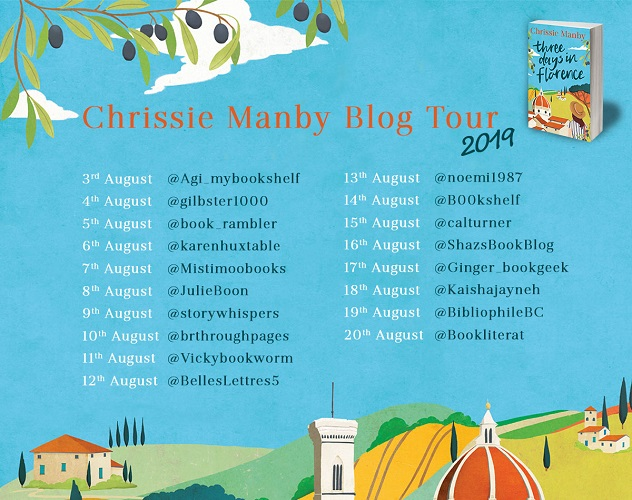 Three Days In Florence-blog-tour poster