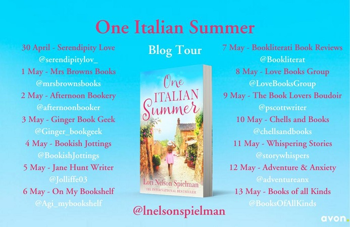 One Italian Summer Blog Tour poster