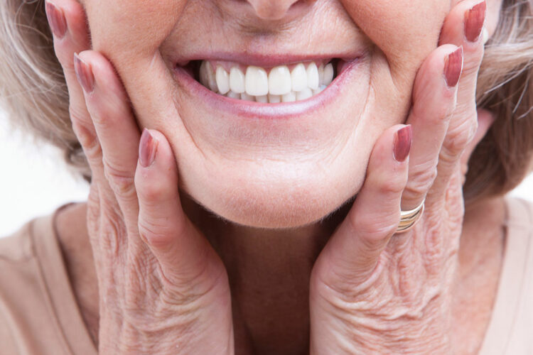 Woman with Dentures Smiling