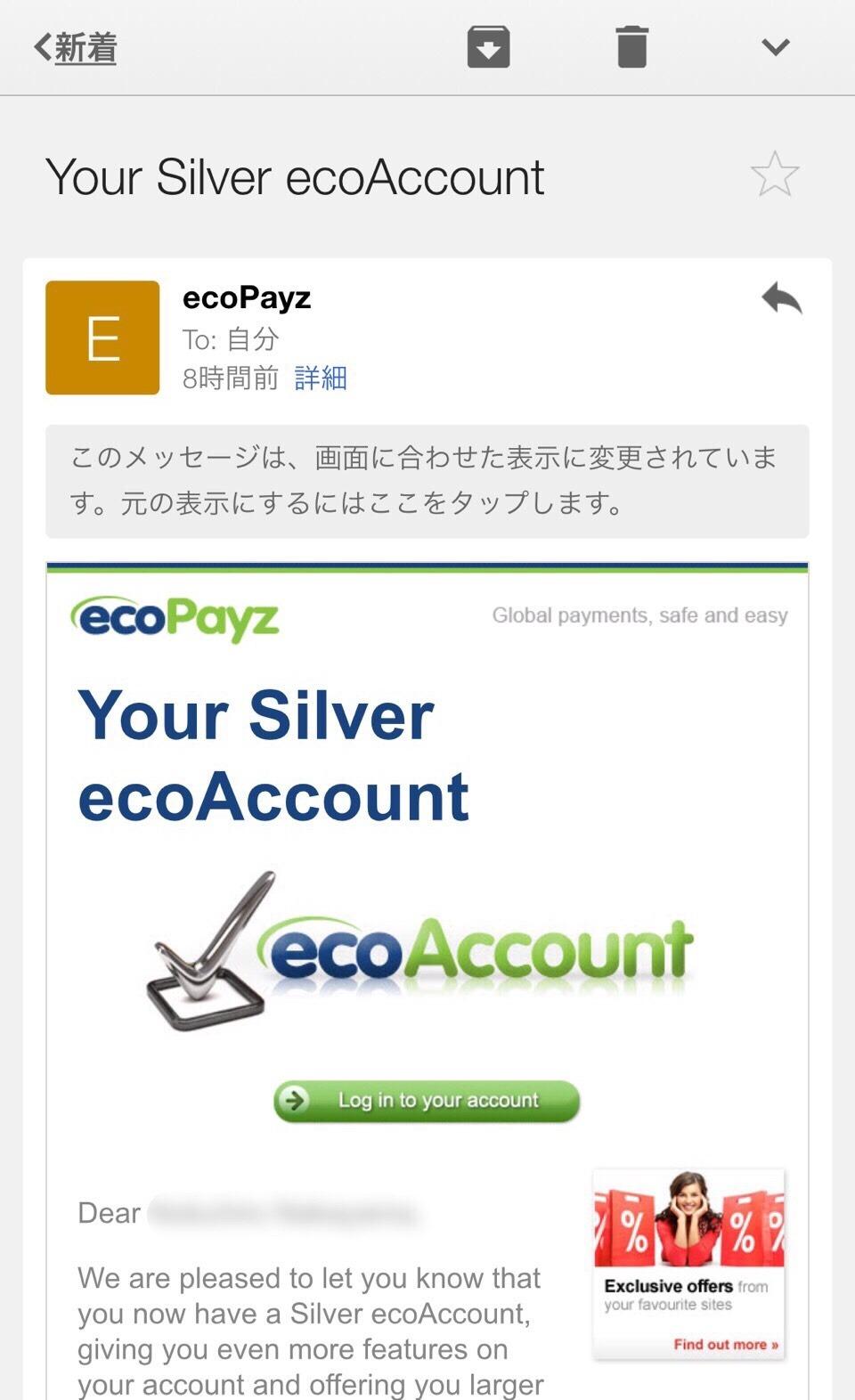 エコペイズサポート画面