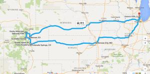 Chicago to Colorado Drive