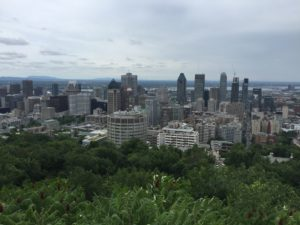 City of Montreal from Royal Mount Park - Road trip from Chicago