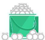 Large Bucket (110+ Balls) $11
