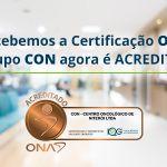 O CON é certificado pela Organização Nacional de Acreditação