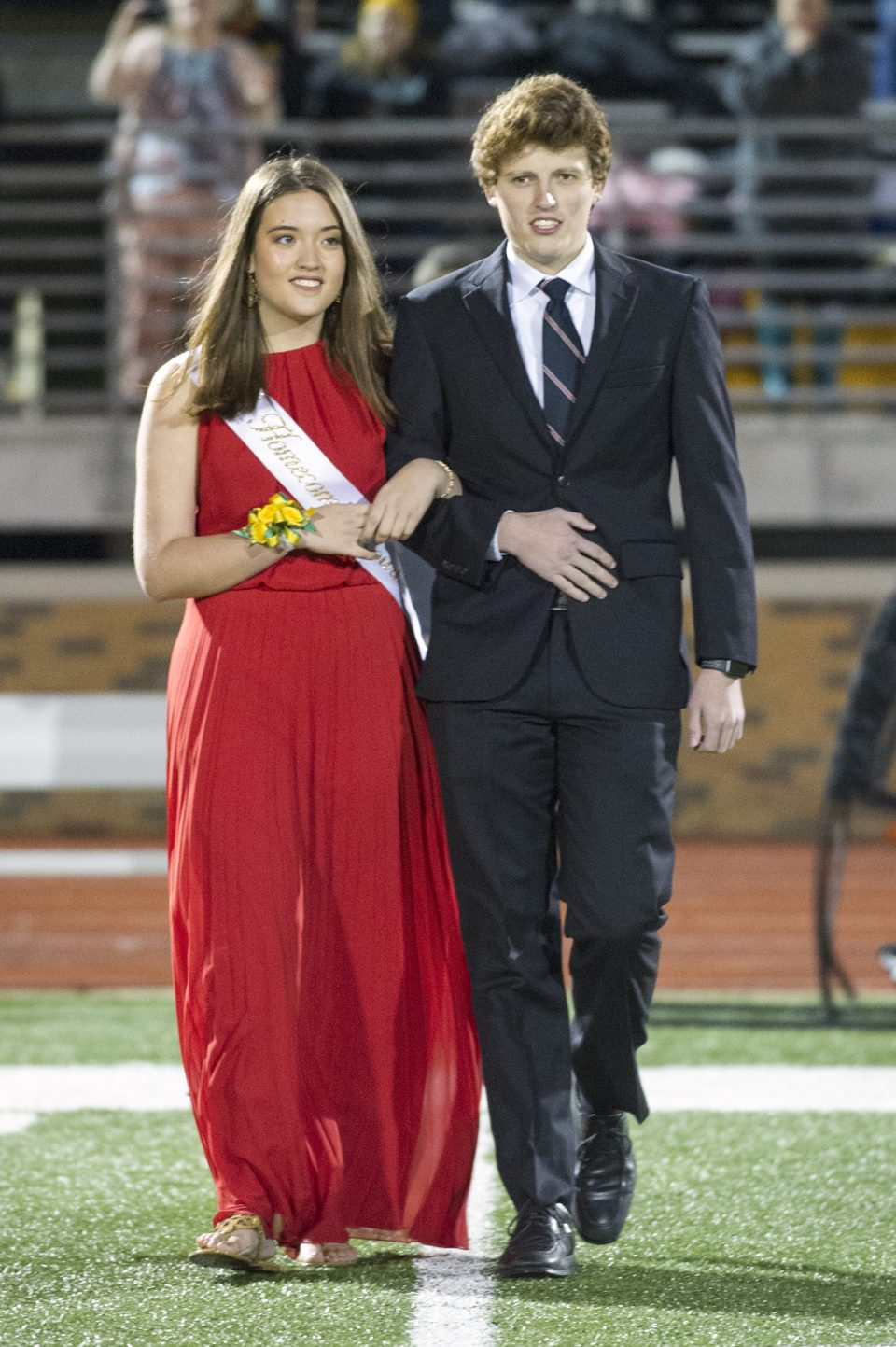 Homecoming queen candidate Allie Pigg and escort Drew Thomas. Photo by Maya Bell.