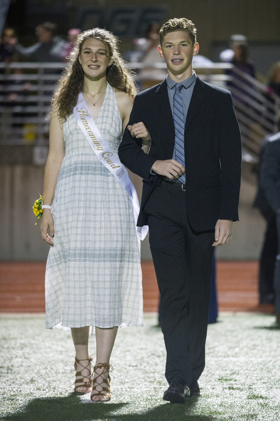 Homecoming queen candidate Mariah Blackburn and escort Tim Rhodenbaugh. Photo by Maya Bell.