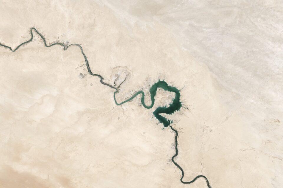 Snaking Rivers in Qadisiyah, Baghdad, Iraq