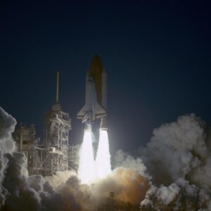 The launch of the STS-59 space shuttle mission, Linda Godwin's second flight.