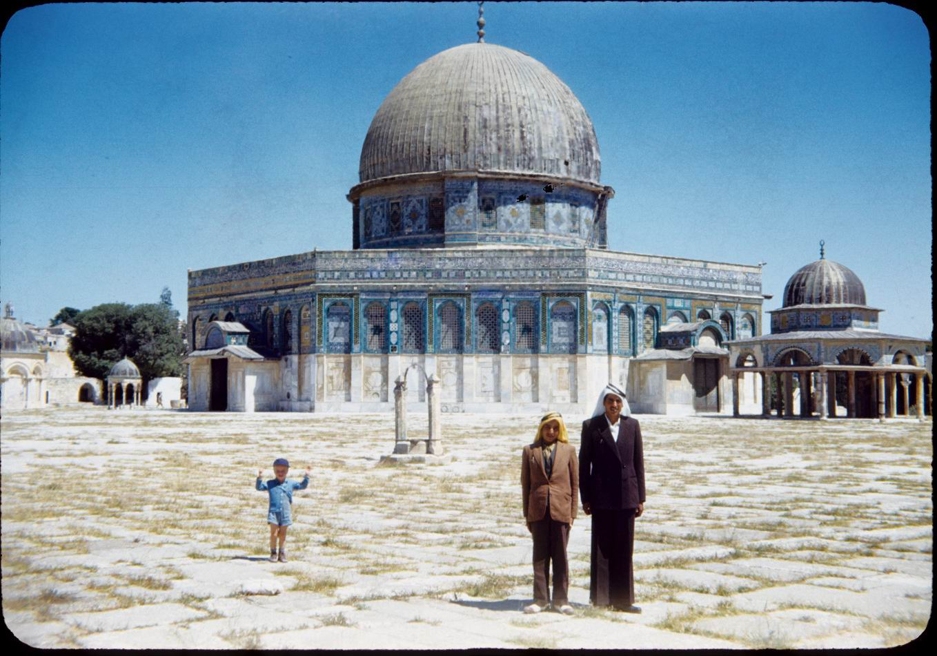 Dome of the Rock circa 1950's Chatham University Archives Lantern Slides Collection