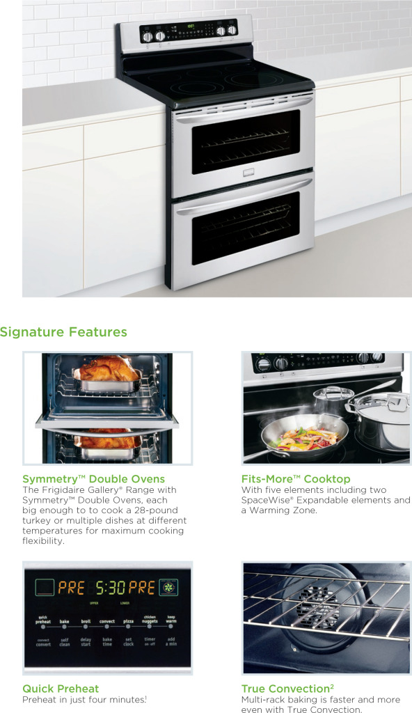 Frigidaire Double Oven