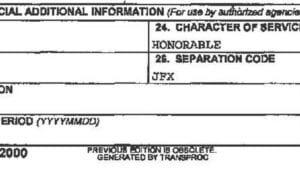 Sample DD214 - Discharge Recharacterization