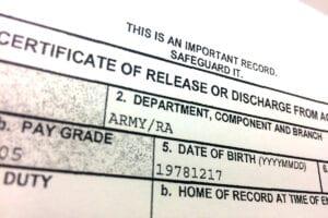 Certificate of Release or Discharge - discharge recharacterization