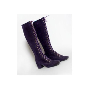 purple gogo boots circa late 1960's