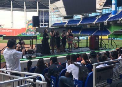 Guitars Over Guns Leadership Miami Marlins graduation ceremony 11