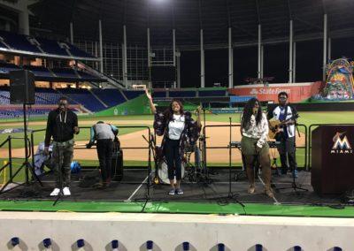 Guitars Over Guns Leadership Miami Marlins graduation ceremony 8