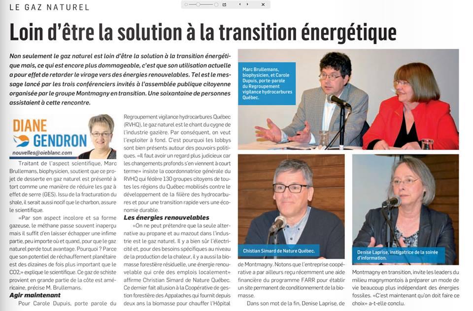 Le gaz naturel, loin d'être la solution à la transition énergétique