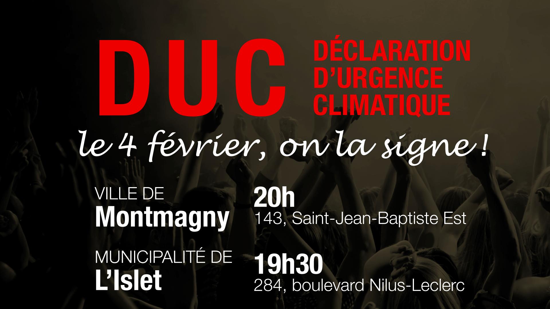 Déclaration d'urgence climatique: Montmagny et L'Islet sont invités à ajouter leur nom aux 238 signataires