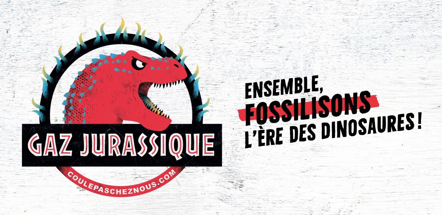 «Gaz jurassique» à Montmagny: une campagne citoyenne invite à fossiliser l'ère des dinosaures… et le gaz naturel