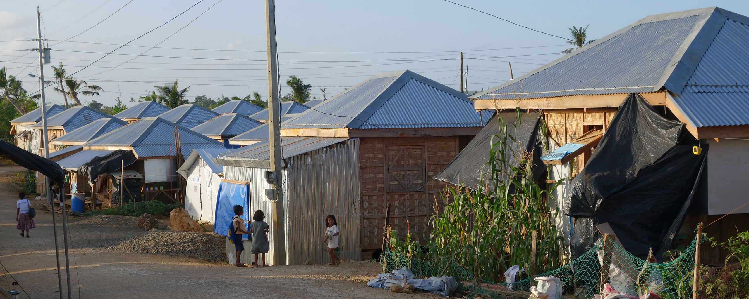 Resettlement housing in the Philippines