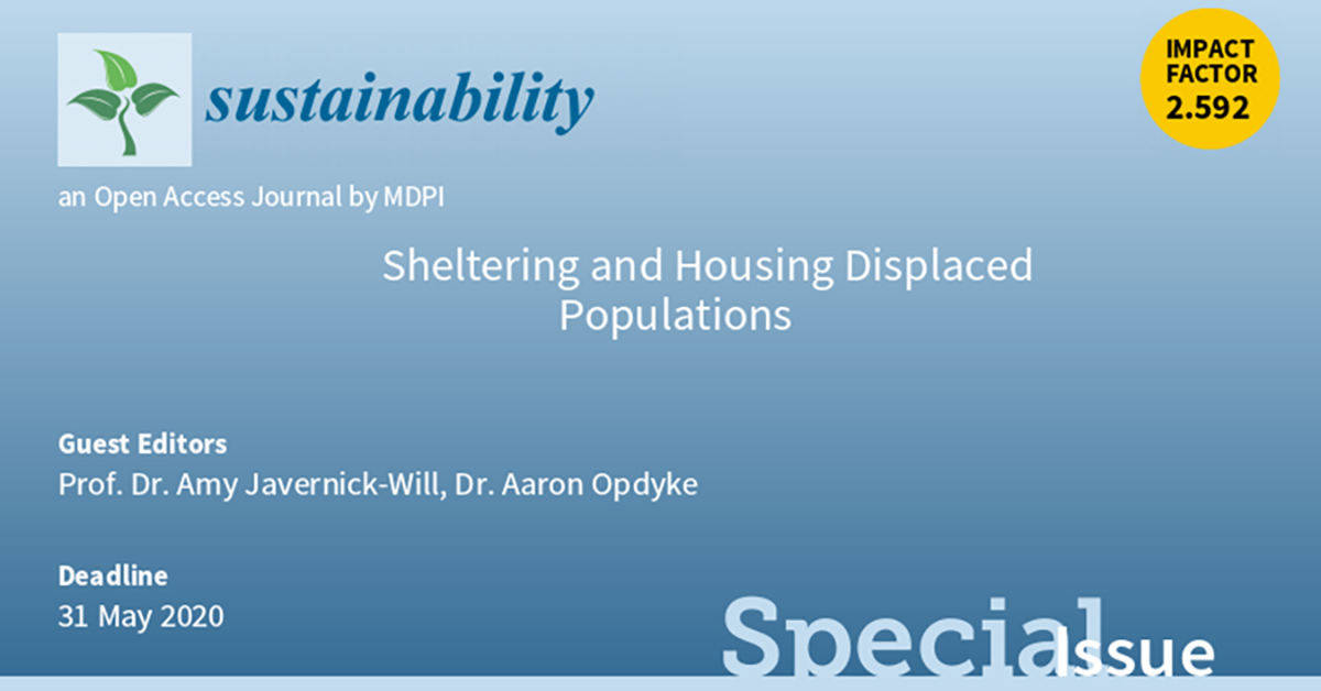 Sheltering and housing displaced population special issue