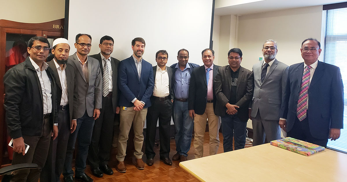 Delegation of Bangladesh engineers at training