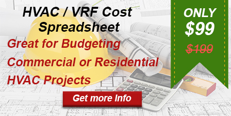 VRF HVAC Cost Budgeting Spreadsheet