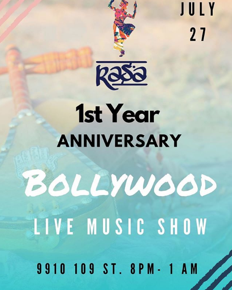 Rasa Entertainment's 1st Year Anniversary Bollywood Live Music Show