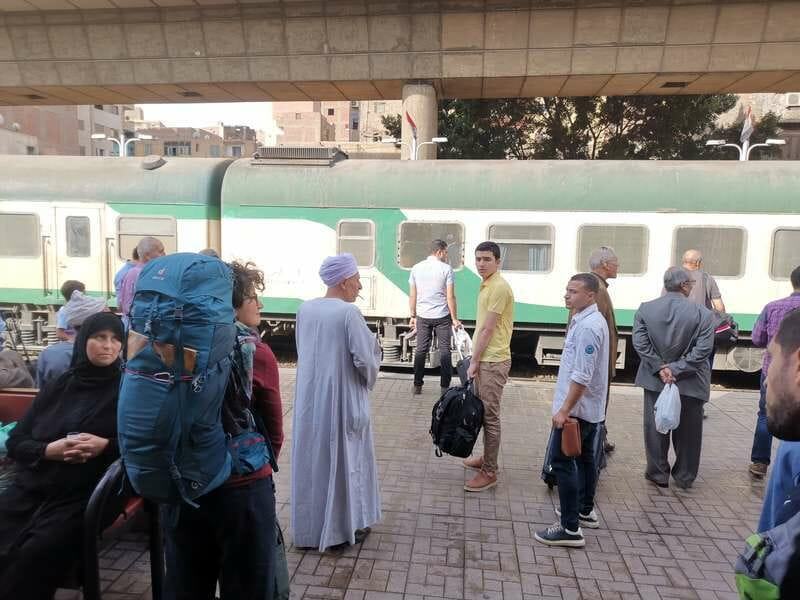 Tourist experience in Egyptian train