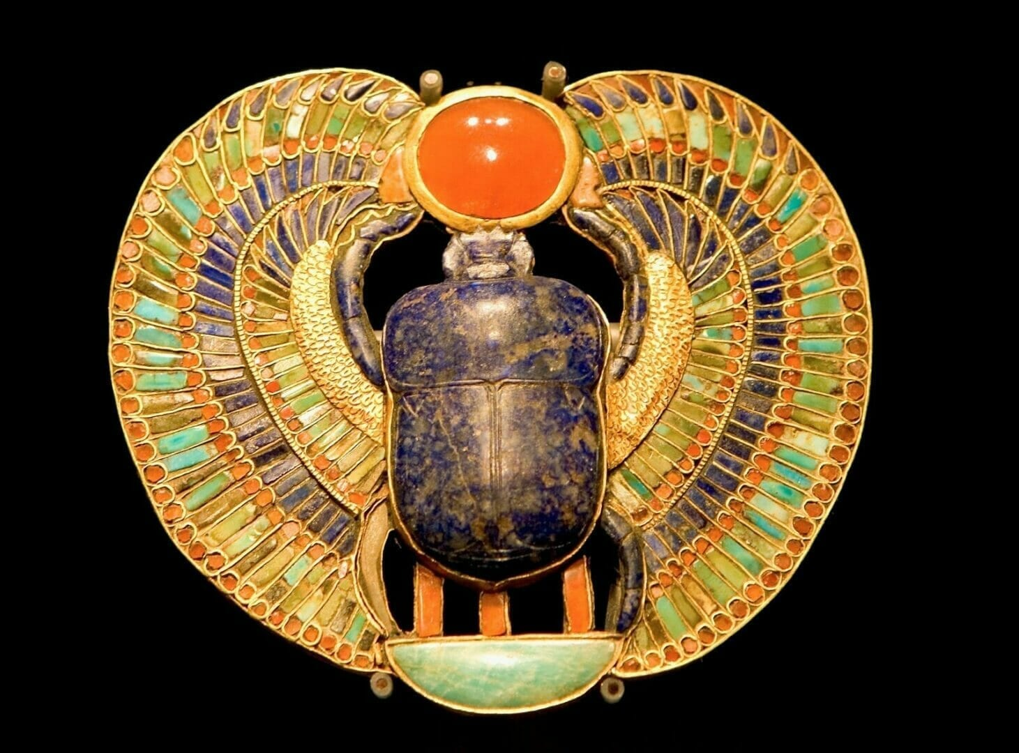 Gold Scarab in Ancient Egypt