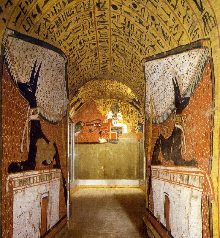 Deir El Medina- Tomb Interior Walls