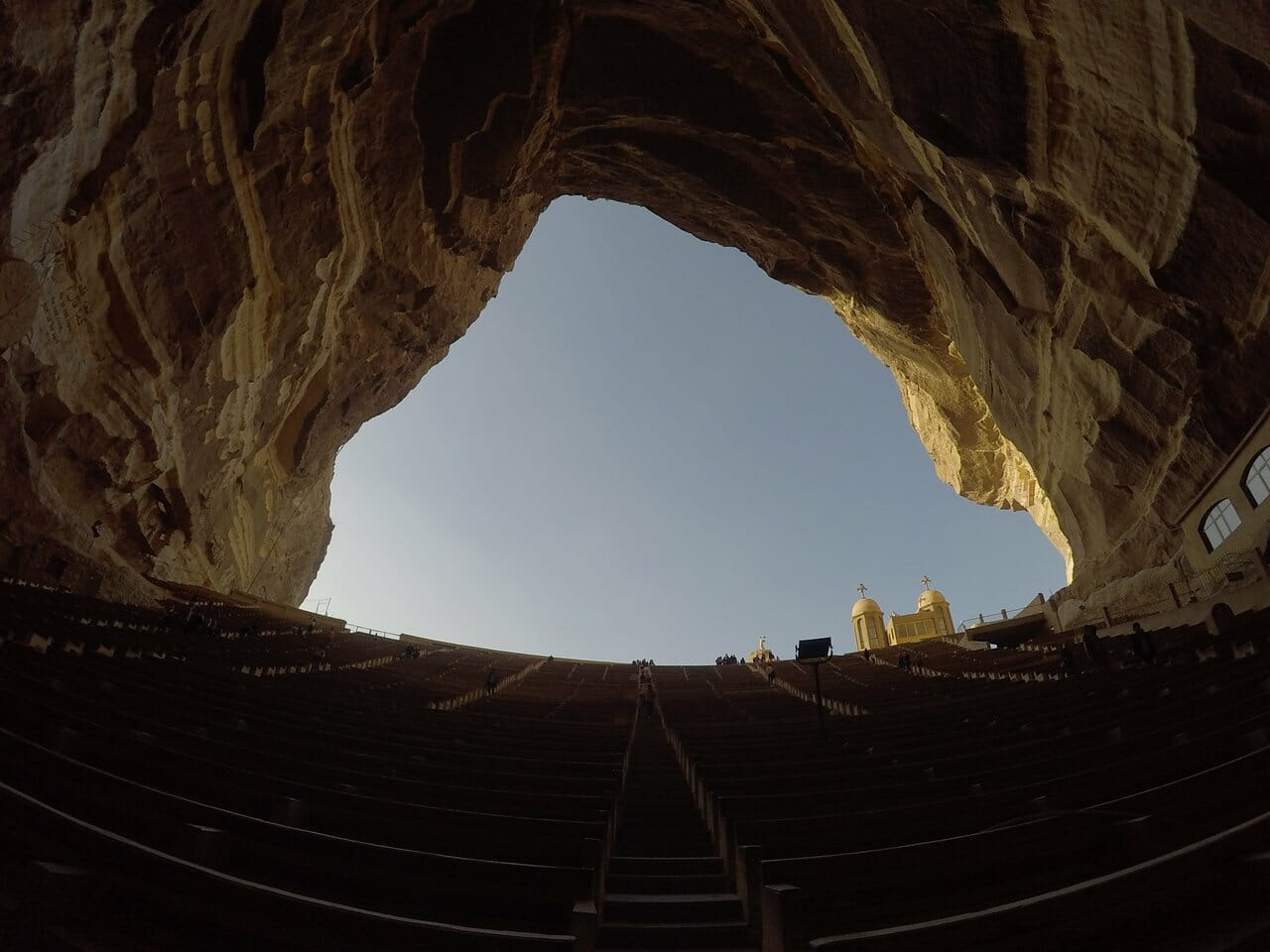 The Cave Church in Cairo, Egypt