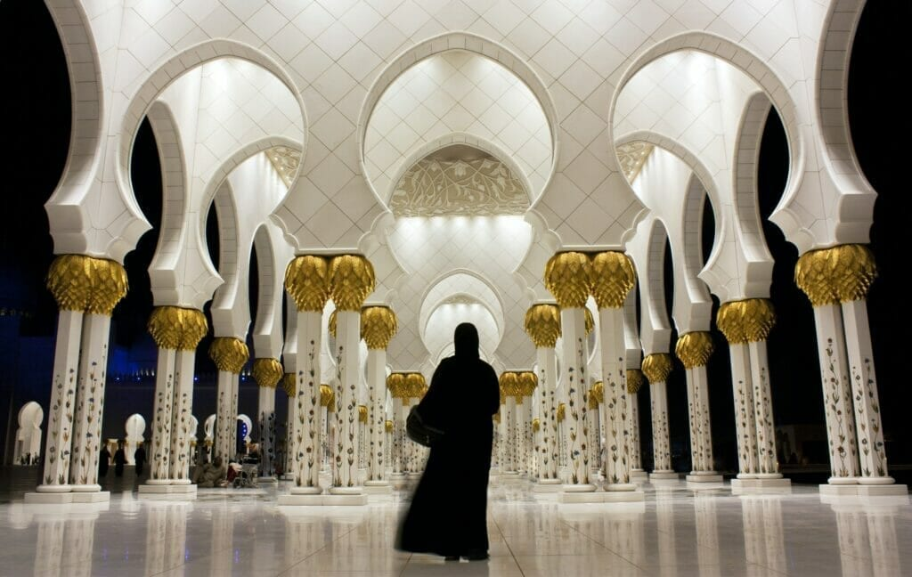 The landmark and must visit in Abu Dhabi Sheikh Zayed Grand Mosque