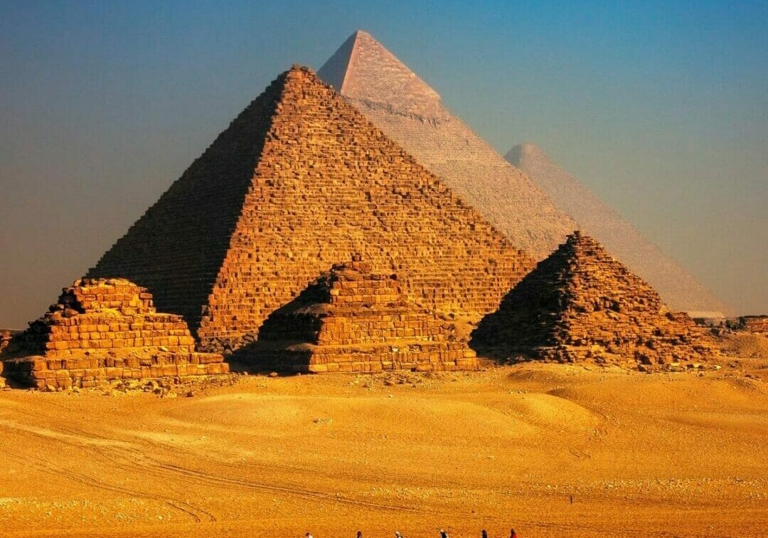 The Great Pyramids in Giza, Egypt