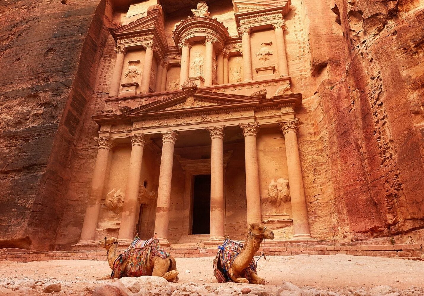 The Treasury of Little Petra in Jordan