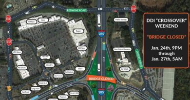 Camp Creek Pkwy DDI Crossover Weekend Postponed