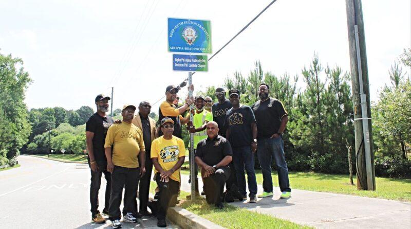 South Fulton Alphas Adopt a Road