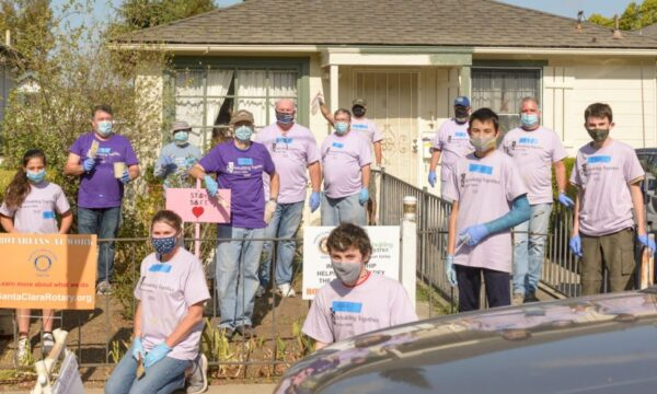 On Saturday, Oct. 24, 13 members of Santa Clara Rotary along with friends, family and several Boy Scouts joined Rebuilding Together to paint the home of a local Santa Clara resident. All the work was performed while wearing masks with social distancing between each person working.