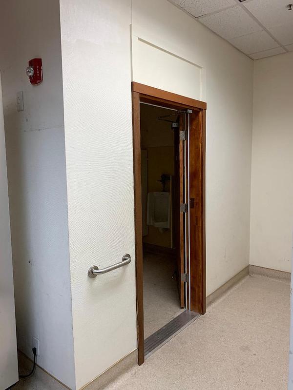 Widen Restroom Door for Wheelchair Access (After)