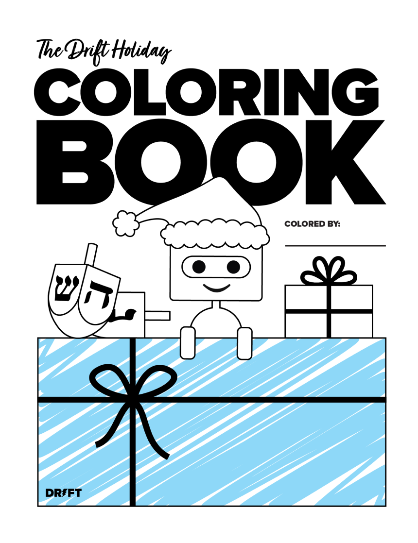 2012 Drift Holiday Coloring Book_Cover