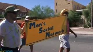 Mens Social Network Marching During the Tucson Pride Parade