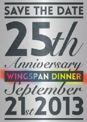 Wingspan Annual Dinner set for September 21st