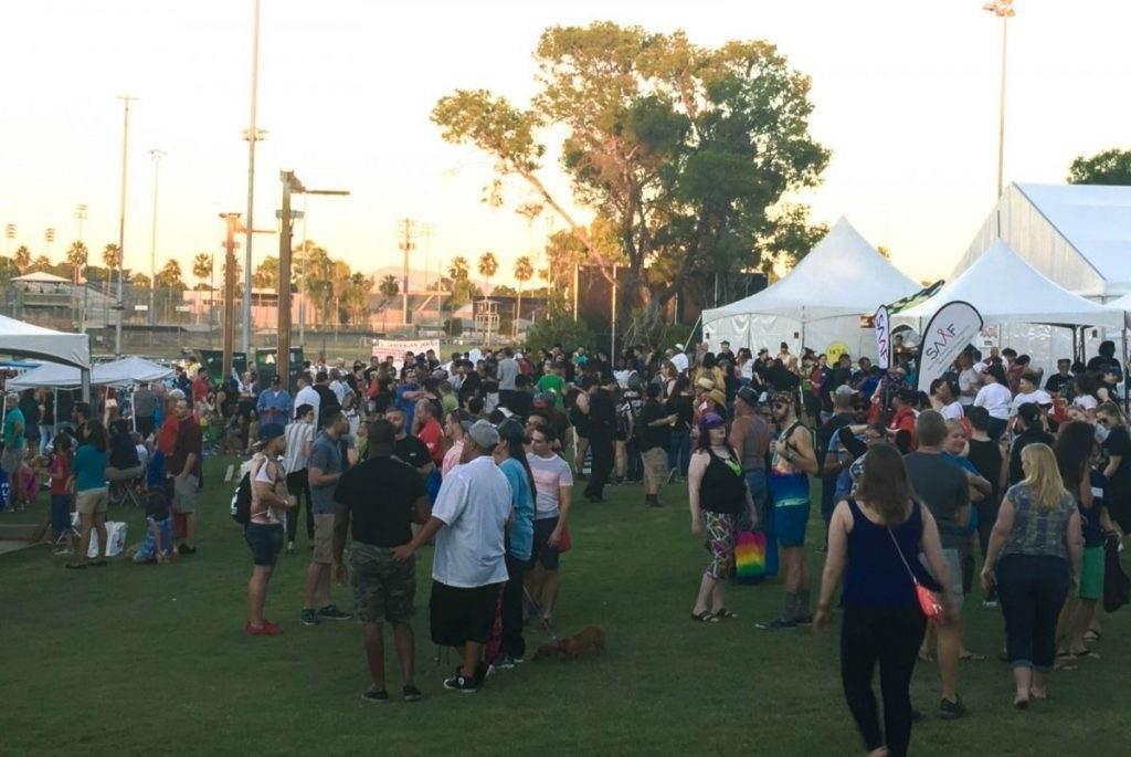 Crowd Enjoying the Show at Tucson Gay Pride 2016