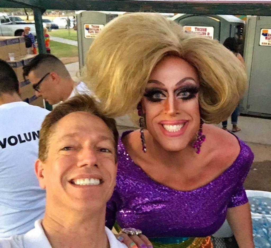 Me and Tempest DuJour Loving Tucson Pride in the Park 2016