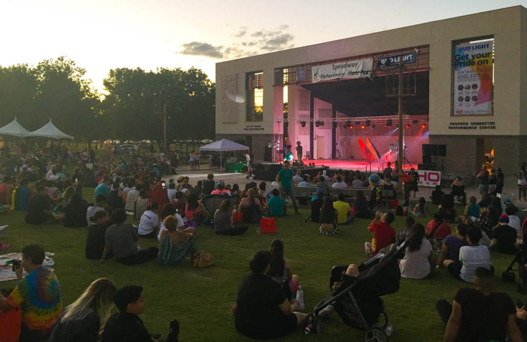 Staying Long into the Evening at Tucson Gay Pride 2016