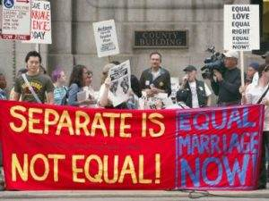 Marriage Equality Separate is Not Equal