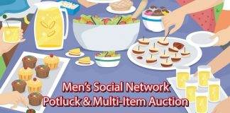 Potluck and Multi-Item Auction Mens Social Network
