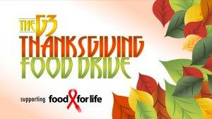 G3 Thanksgiving Food Drive Supporting SAAF Food For Life
