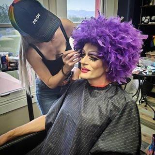 Janine Artistry Salon Creates the Look of Drag Queen Bingo