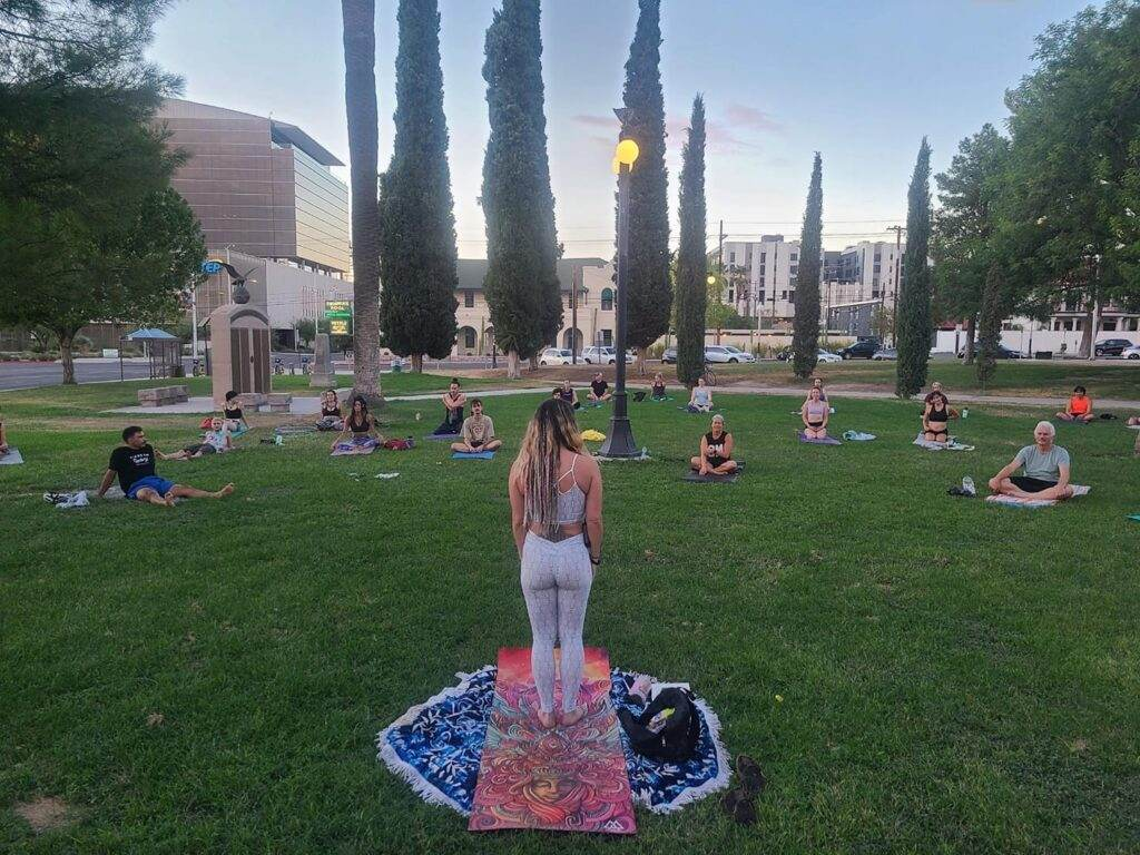 Yoga Jam in the Park with Kyndle Fire!