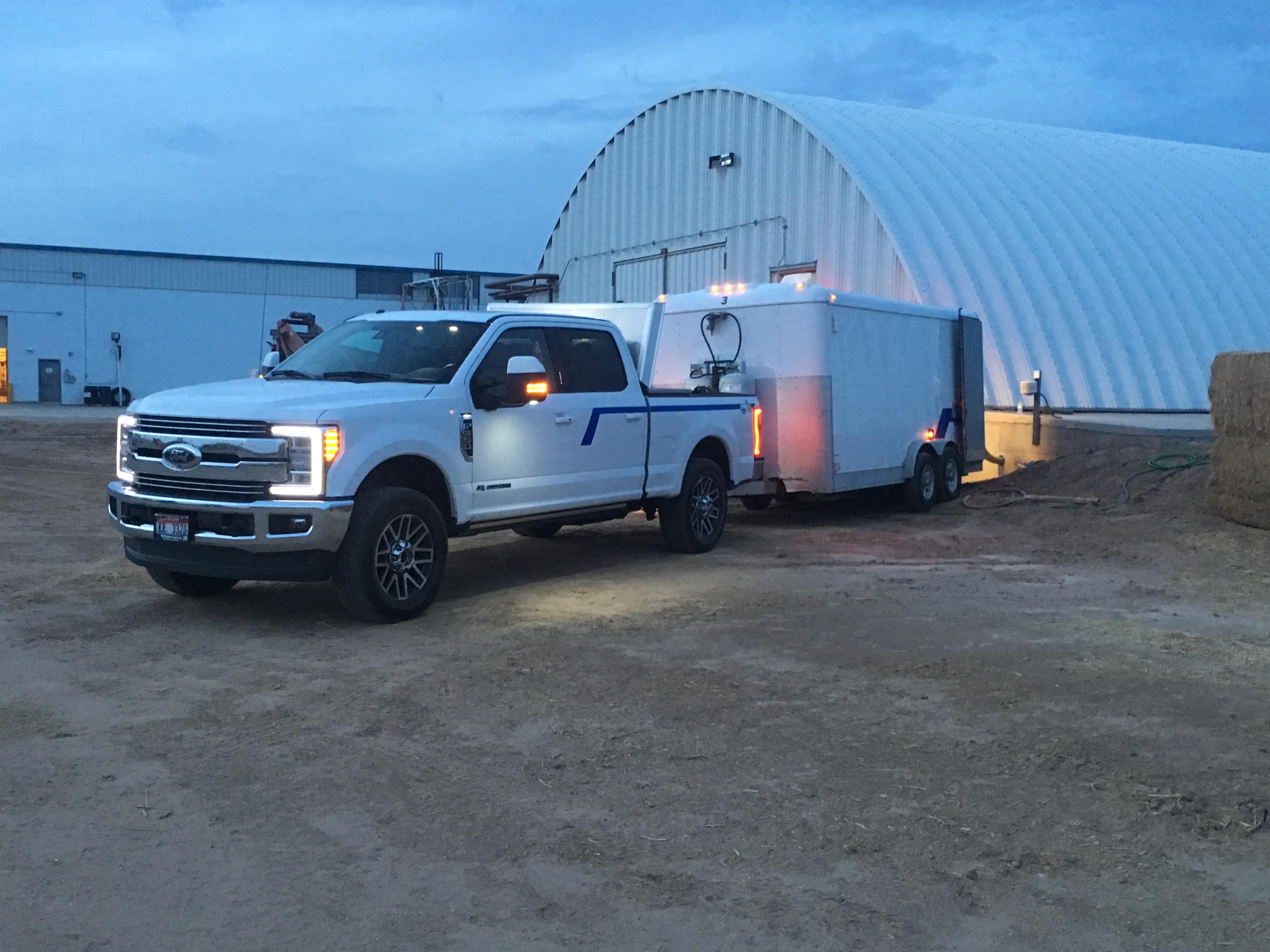 New pickup & trailer